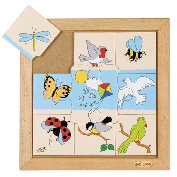 Детская развивающая игра Пазл «Птицы и насекомые» арт. 523089