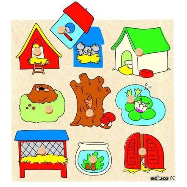 Детская развивающая игра пазл с секретом «Кто где живет?» арт. 522405