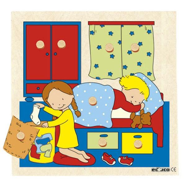 Детская развивающая игра пазл с секретом «Спальня» арт. 522402