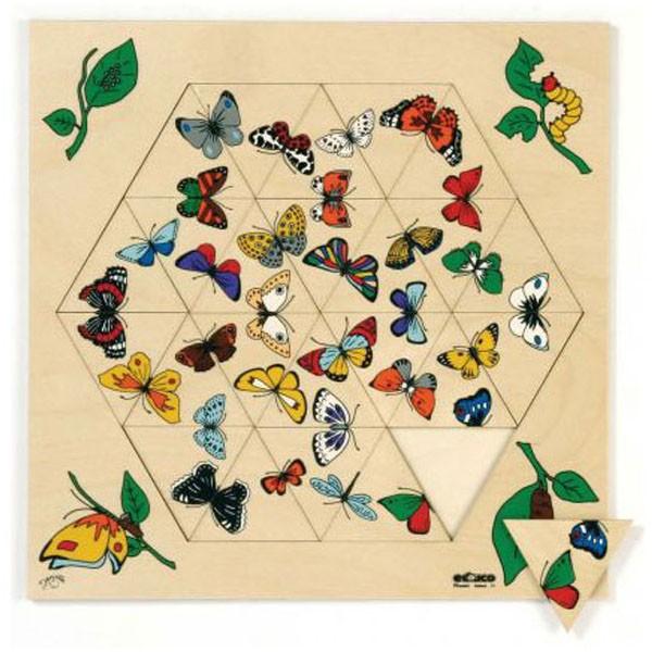 Детская развивающая игра Пазл с треугольниками «Бабочки» арт. 522825