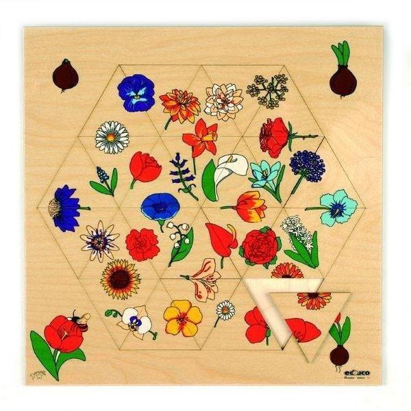 Детская развивающая игра Пазл с треугольниками «Цветы» арт. 522826