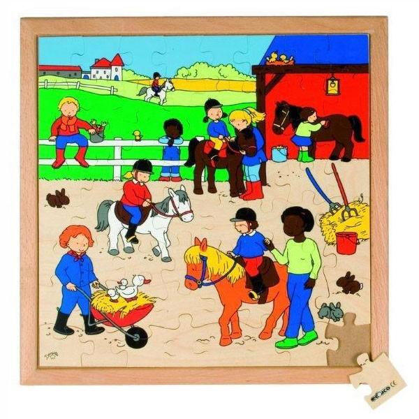 Детская развивающая игра Пазл «Верховая езда» арт. 522878