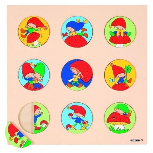 Детская развивающая игра пазл-вкладыш «Гномики» арт. 523040