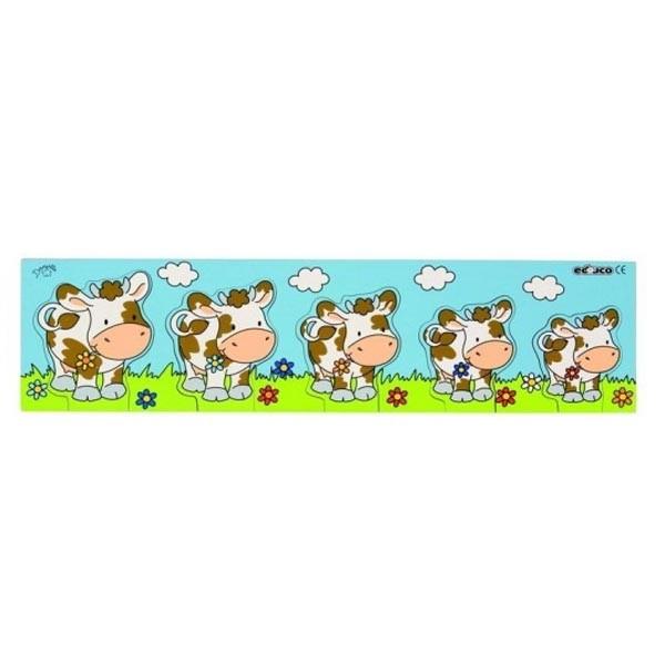 Детская развивающая игра  пазл-вкладыш Корова арт 523026