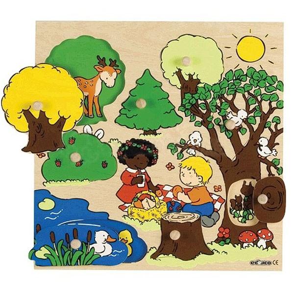 Детская развивающая игра Пазл-вкладыш «Лес» арт. 522651