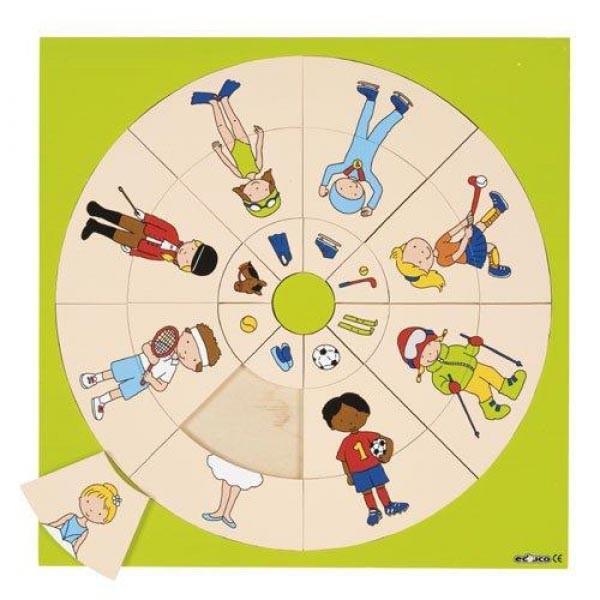 Детская развивающая игра пазл-вкладыш «Логический круг» арт. 523038