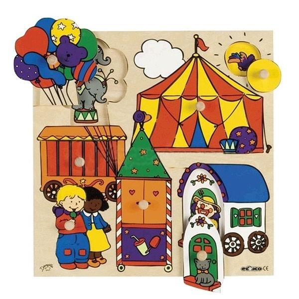 Детская развивающая игра Пазл-вкладыш «Цирк» арт. 522652