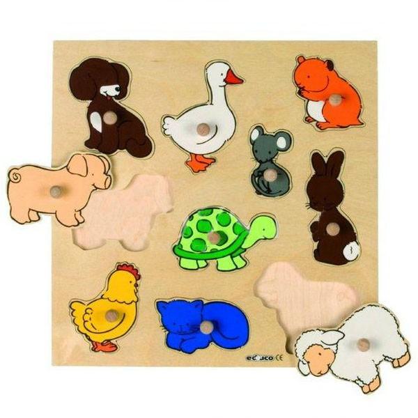 Детская развивающая игра Пазл-вкладыш «Животные» арт. 522637