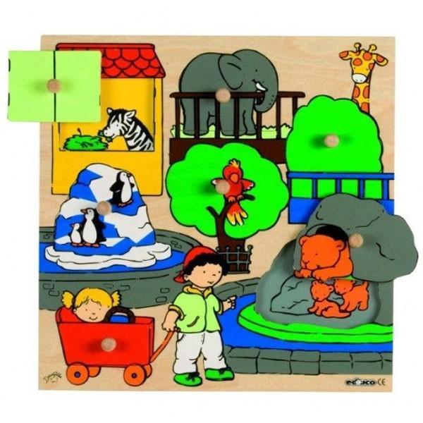 Детская развивающая игра Пазл-вкладыш «Зоопарк» арт. 522653