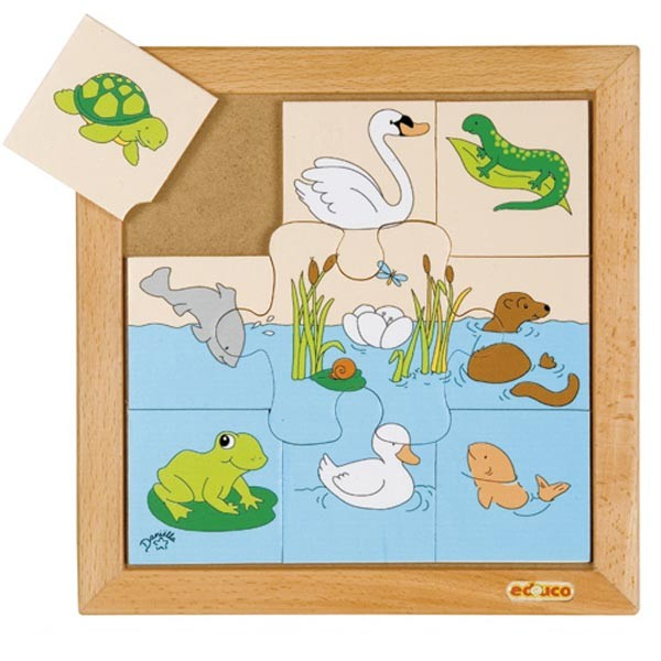 Детская развивающая игра Пазл «Водоплавающие» арт. 523090