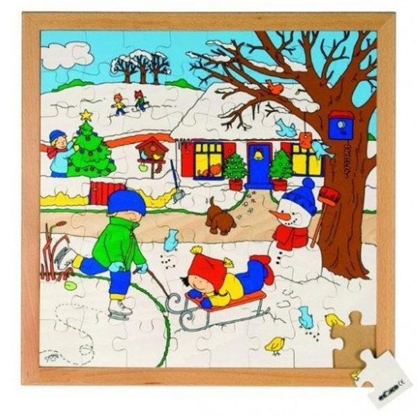 Детская развивающая игра пазл «Зима» арт. 522626