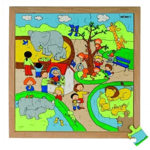 Детская развивающая игра пазл «Зоопарк» арт. 522616