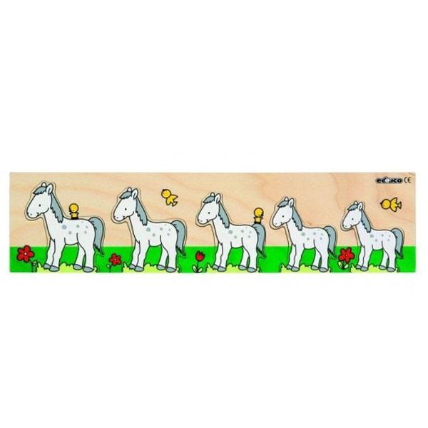 Детская развивающая игра Пазлы-вкладыши «Лошадка» арт. 522863
