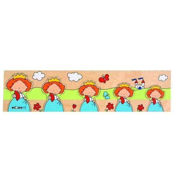 Детская развивающая игра Пазлы-вкладыши «Принцесса» арт. 522861