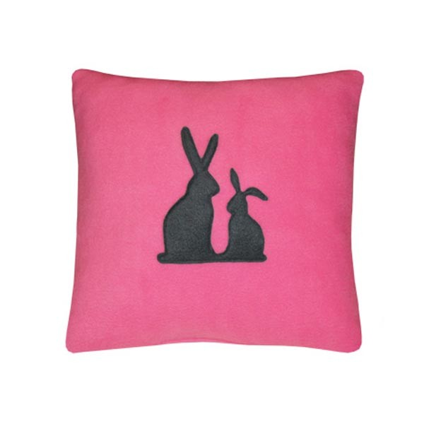 Декоративная подушка Серые кролики арт rabbit_pg