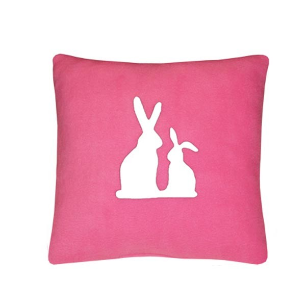 Декоративная подушка Белые кролики арт rabbit_pw