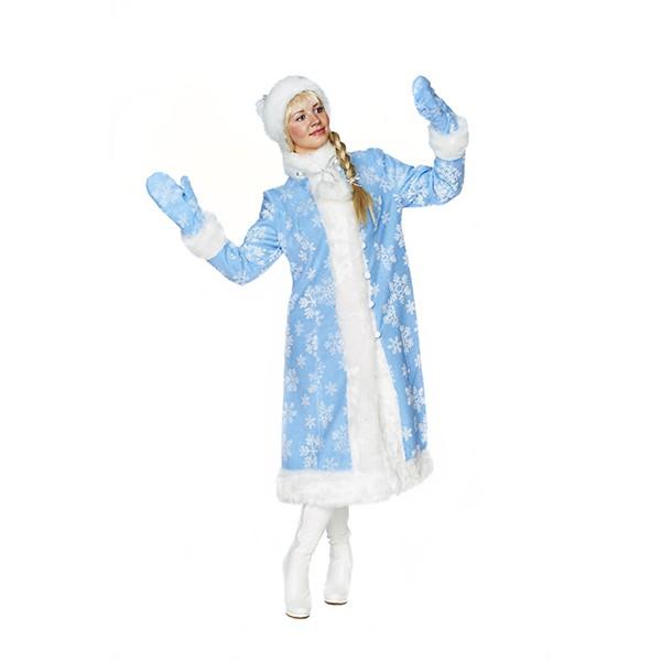 Карнавальный костюм Снегурочка Меховой узор